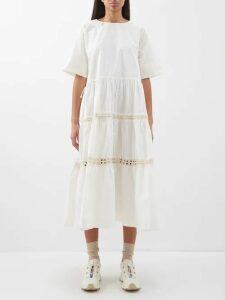 Muzungu Sisters - Frangipani Tiered Cotton Dress - Womens - Multi Stripe