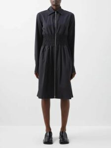 Muzungu Sisters - Marigold Embroidered Cotton Blend Dress - Womens - Blue Multi