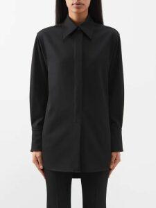 D'ascoli - Royce Floral Print Silk Chiffon Midi Dress - Womens - Black Print