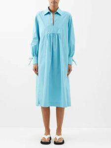 No. 21 - Ruffled Satin Mini Dress - Womens - Dark Green