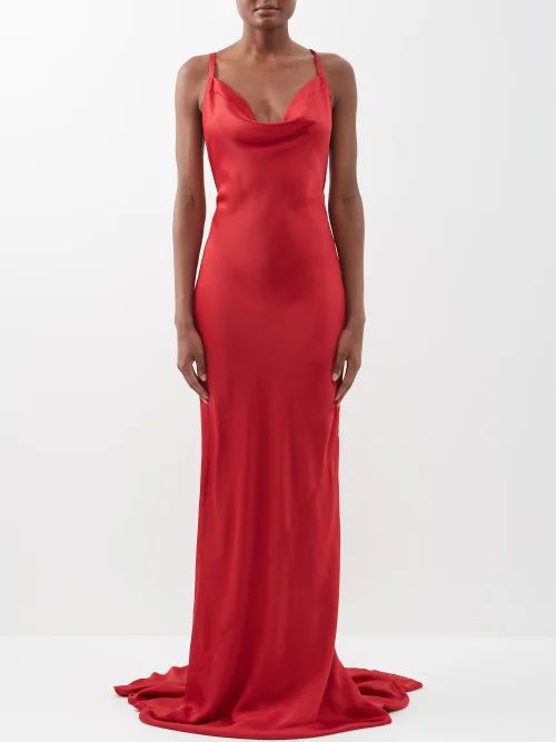 Lemaire - Lightweight Belted Trench Coat - Womens - Light Brown