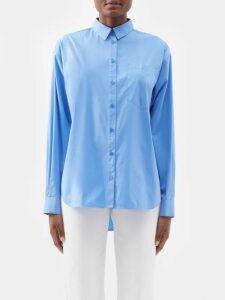 Lemaire - Tie Waist Cotton Poplin Shirtdress - Womens - Black