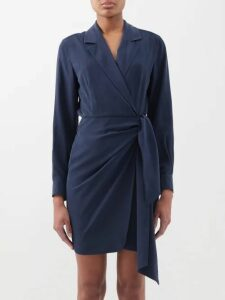 Bella Freud - Radzville High Neck Lamé Top - Womens - Silver