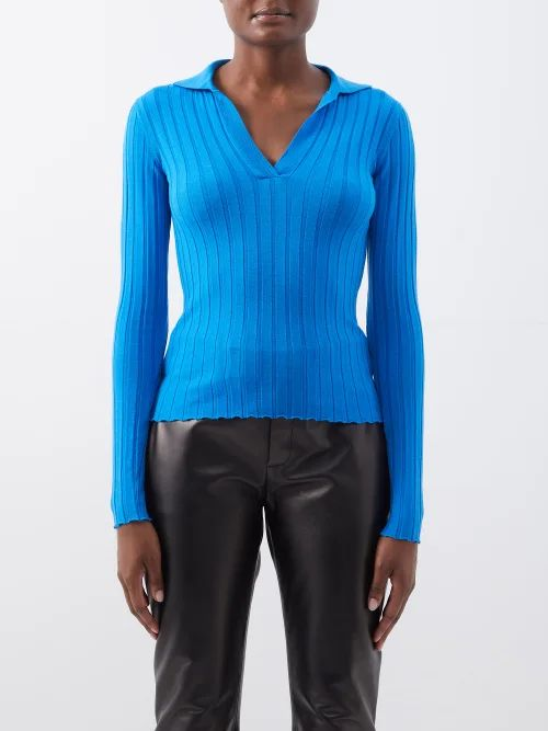 Comme Des Garçons Girl - Gingham Cotton Midi Skirt - Womens - Red White