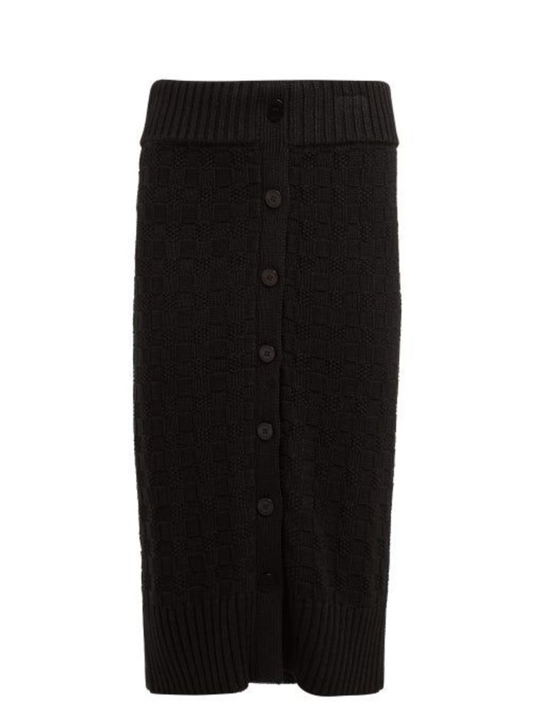 Altuzarra - Valentina Cotton Blend Pencil Skirt - Womens - Black