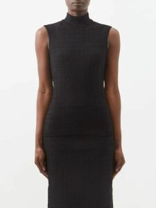 No. 21 - Pvc Layer Crystal Embellished Cotton Skirt - Womens - Multi