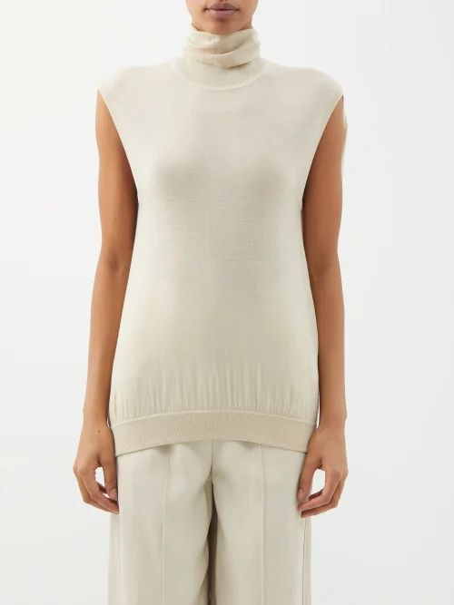 Valentino - Leather Pencil Skirt - Womens - Black