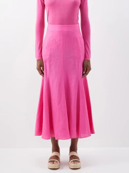 Rebecca De Ravenel - Dandelion Flying Fruit Print Cotton Dress - Womens - Blue Multi