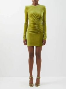 Rebecca Taylor - Ruffled Silk Blend Lamé Mini Dress - Womens - Light Pink
