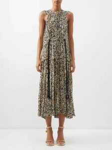 Chufy - Camel Reversible Slip Dress - Womens - Red Multi
