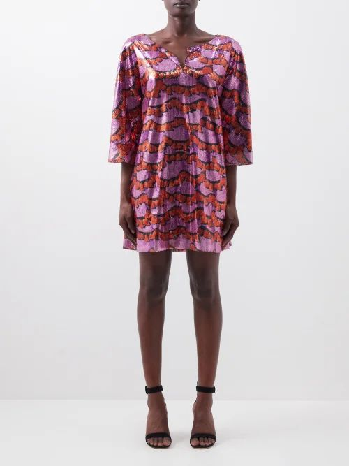 Valentino - V Ring Small Leather Cross Body Bag - Womens - Burgundy