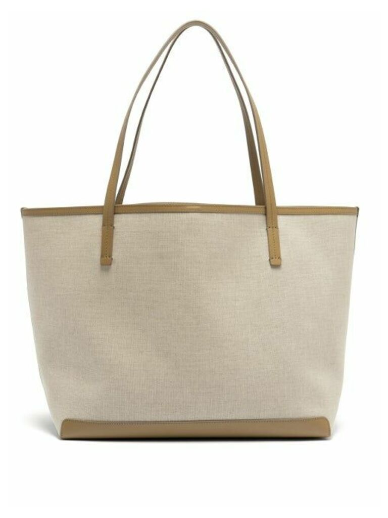 The Row - Park Canvas Tote Bag - Womens - Tan Multi