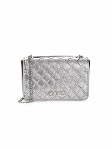 Metallic Diamond Quilted Crossbody Bag