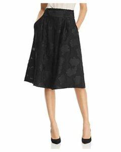 Karl Lagerfeld Paris Textured-Floral Skirt
