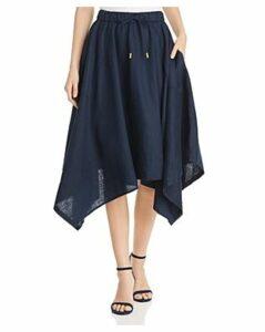 Donna Karan New York Linen Handkerchief-Hem Skirt