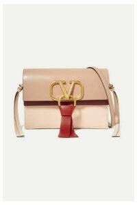Valentino - Valentino Garavani Vring Mini Color-block Leather Shoulder Bag - Red