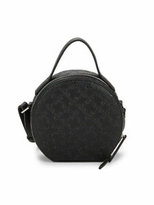 Marin Embossed Logo Round Mini Bag