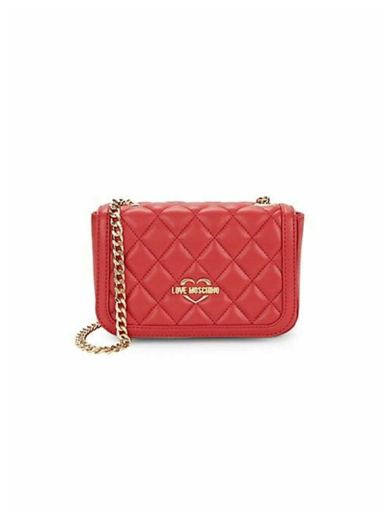 Quilted Faux-Leather Shoulder Bag