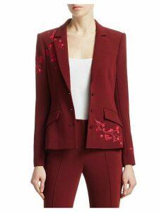 Gabrielle Floral-Embroidered Blazer