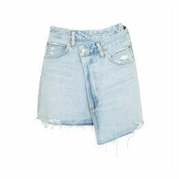 AGOLDE Criss Cross Denim Wrap Skirt