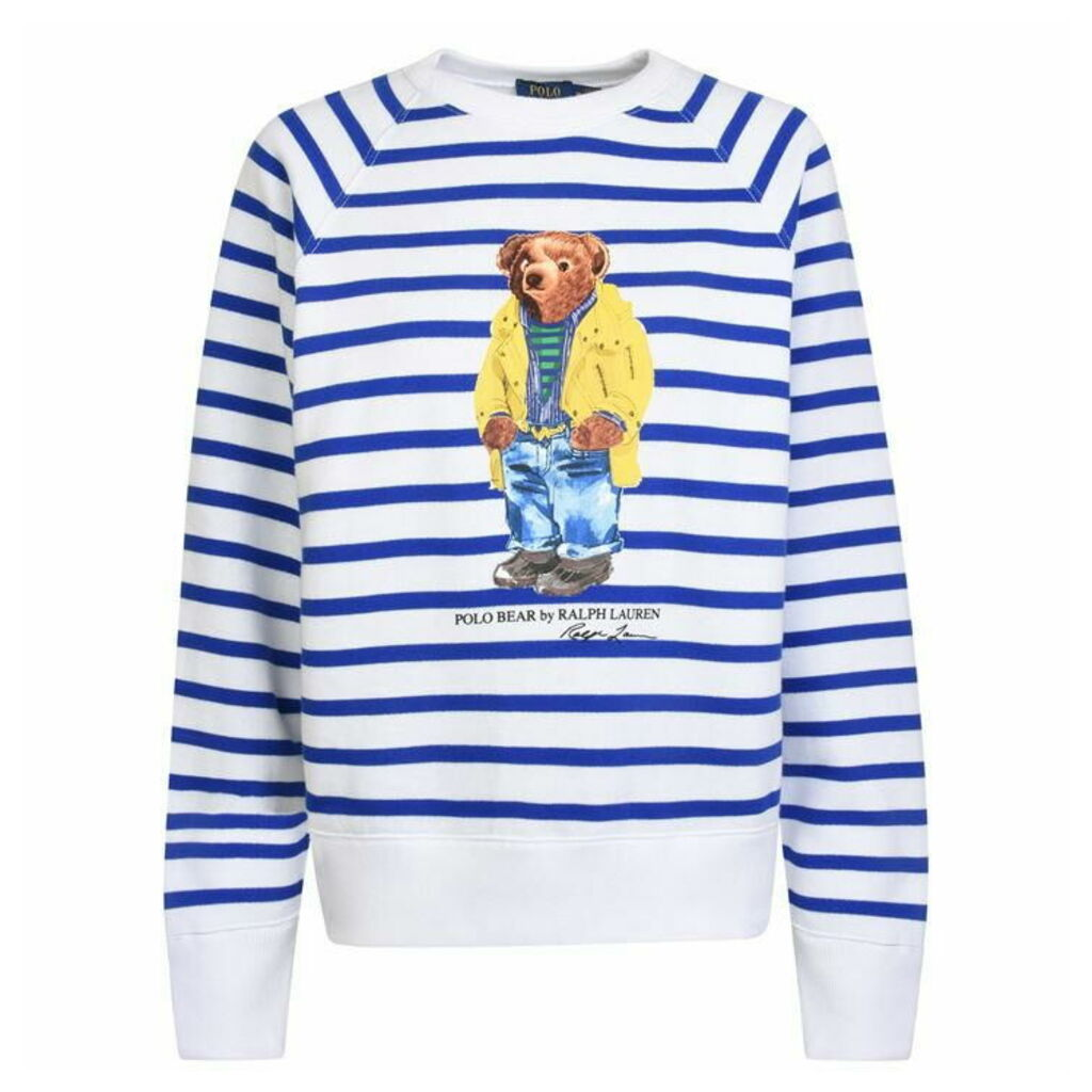 POLO RALPH LAUREN Stripe Bear Sweatshirt