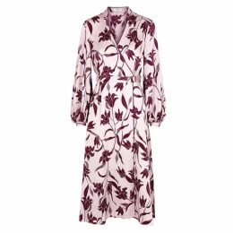 Equipment Andrese Floral-print Silk Midi Dress