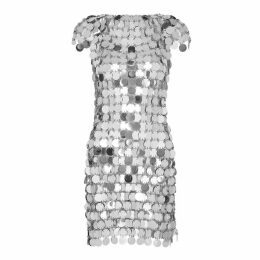 Paco Rabanne Silver Chainmail Mini Dress