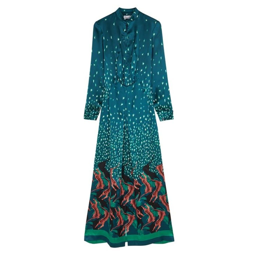 Raquel Diniz Victoria Printed Silk Maxi Dress