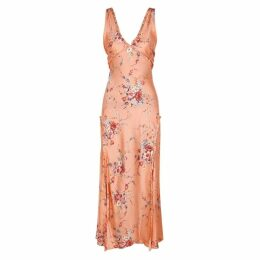 LoveShackFancy Kendall Floral-print Silk Maxi Dress