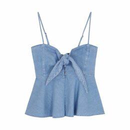Levi's Made & Crafted Senorita Light Blue Denim Top