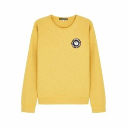 ALEXACHUNG Yellow Slubbed Cotton Sweatshirt