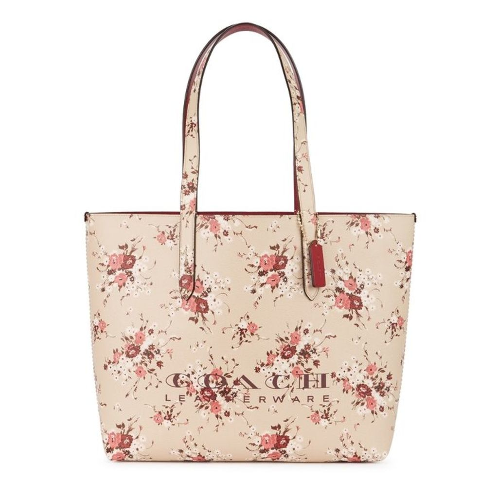 Coach Floral-print Leather Tote
