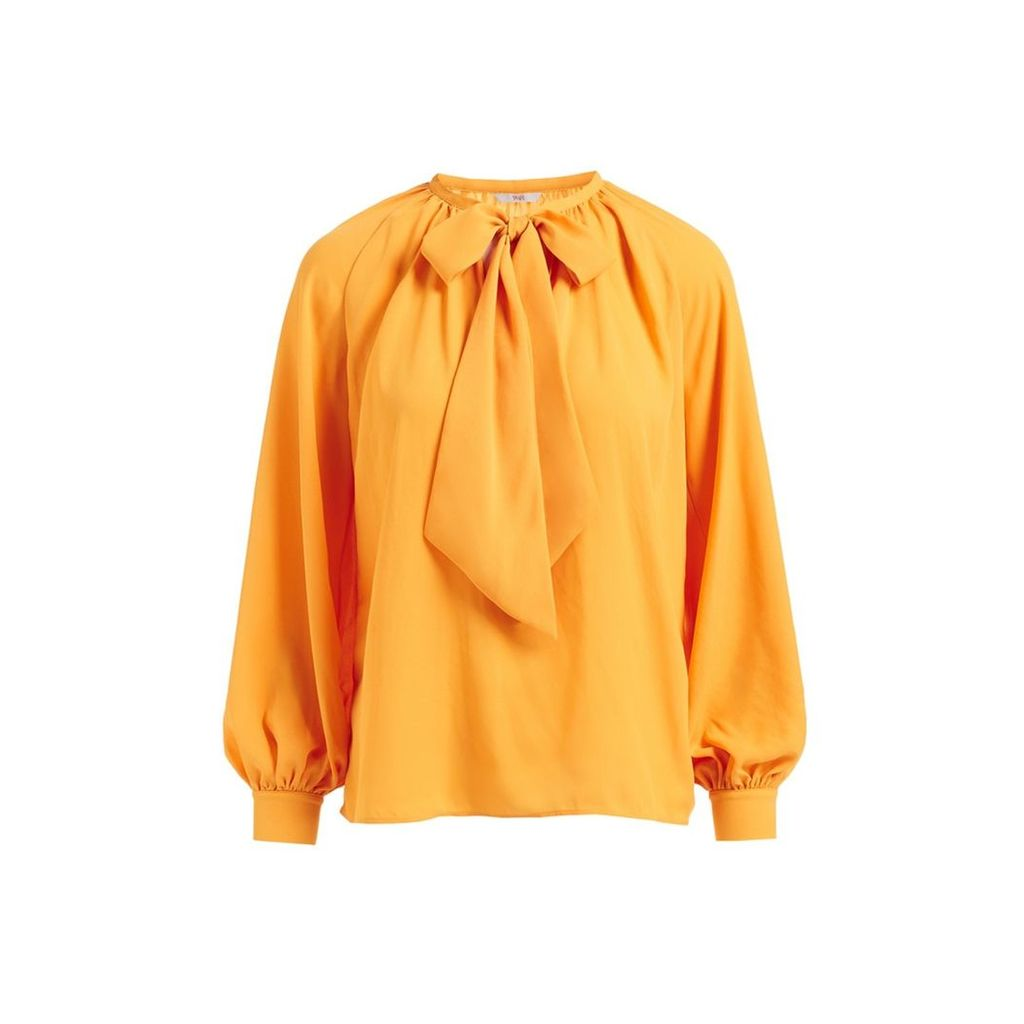 WtR - Delysia Yellow Bow Blouse