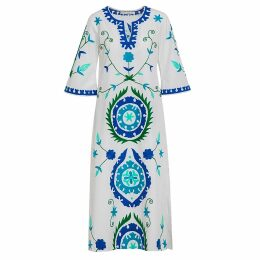 PAISIE - Striped Raglan Top With Tie Sleeves In Navy & White