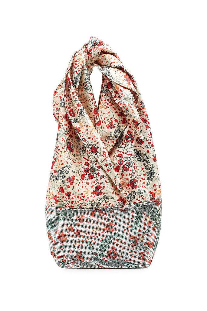 Paco Rabanne Printed Silk Handbag with Sequins