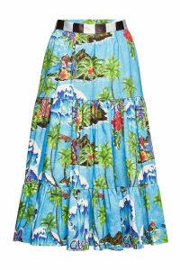 Stella Jean Printed Cotton Skirt