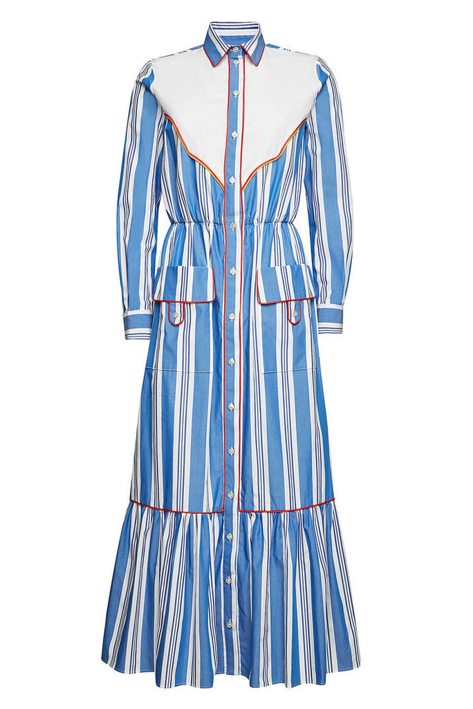 Stella Jean Striped Cotton Maxi Dress