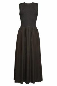 Theory Sleeveless Maxi Dress with Silk