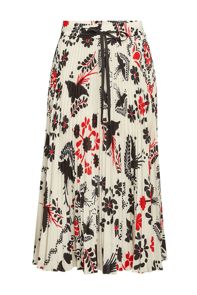 RED Valentino Micro Pleat Printed Skirt
