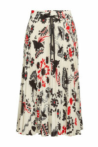 RED Valentino Micro Pleat Printed Skirt