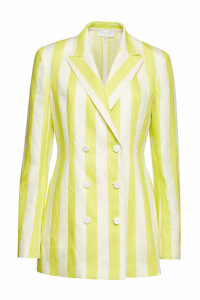 Escada Striped Blazer in Linen and Cotton
