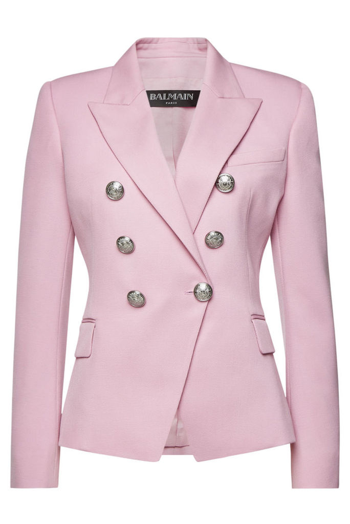 Balmain Wool Blazer with Embossed Buttons
