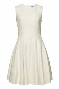 Theory Sleeveless Mini Dress with Cotton and Linen
