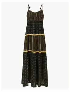 Per Una Textured Swing Maxi Dress