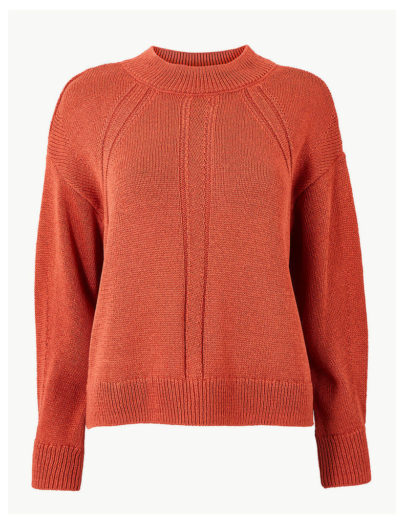Per Una Textured Round Neck Jumper