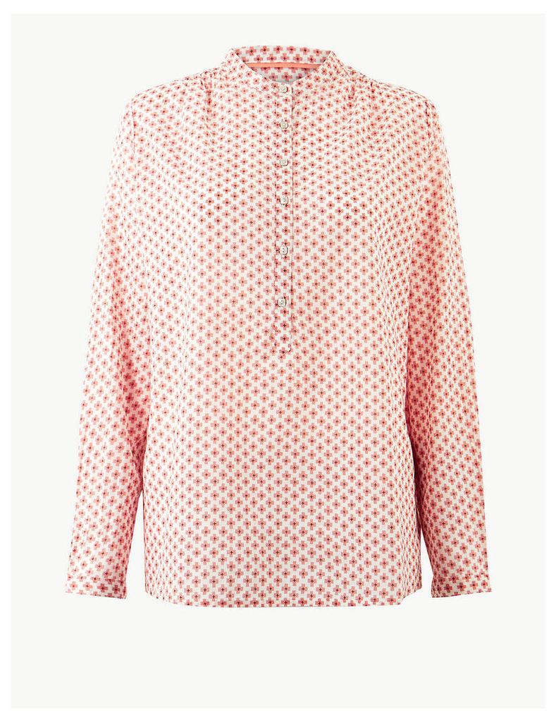 Per Una Pure Cotton Geometric Print Shirt