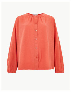 Per Una Pure Cotton Textured Blouse