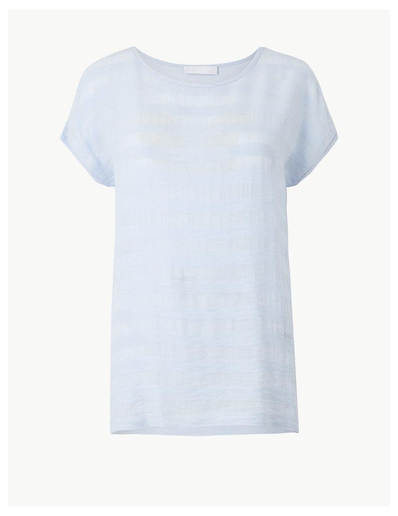 Per Una Striped Jersey Short Sleeve T-Shirt
