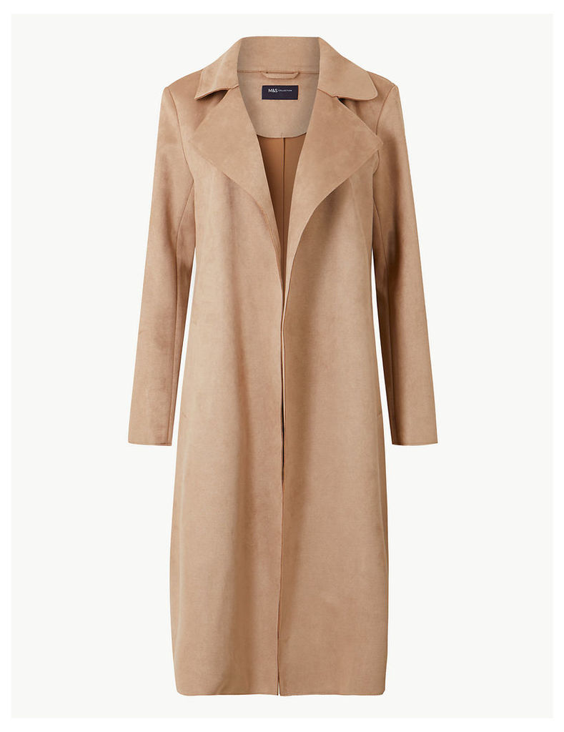 M&S Collection Open Front Longline Coat