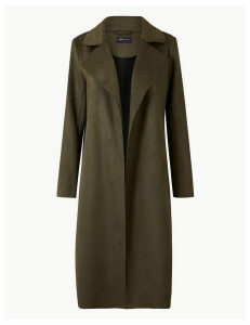 M&S Collection Open Front Longline Coat